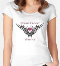 Breast Cancer Warrior Women's Fitted Scoop T-Shirt