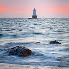 Sakonnet Point Lighthouse, Rhode Island at Sunset by Joshua McDonough Photography