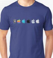 Apple Logo Evolution History Unisex T-Shirt