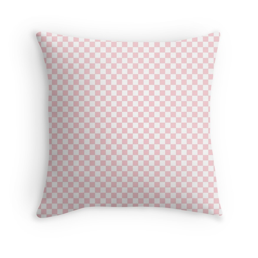 White and Light Millennial Pink Pastel Color Checkerboard