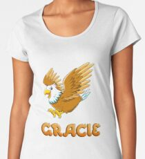 Gracie Eagle Sticker Women's Premium T-Shirt