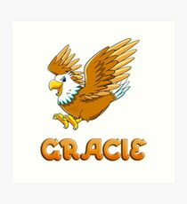 Gracie Eagle Sticker Art Print
