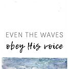 Even the Waves Obey His Voice Artwork by AnnasEyeforArt