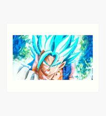 Ultra Instinct Goku Mastered Art Print