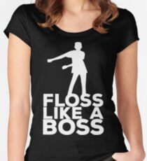 Floss Like A Boss Dance T-Shirt Women's Fitted Scoop T-Shirt