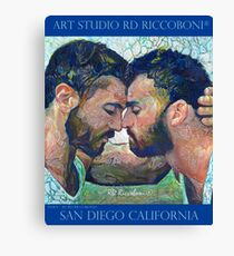 When by artist RD Riccoboni - Gay couple Canvas Print