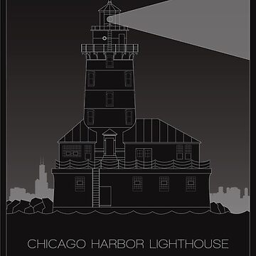 Chicago Harbor Lighthouse by scbb11Sketch