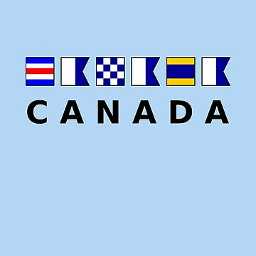 Canada Nautical Signal Sailing Flags Light Color by TinyStarCanada