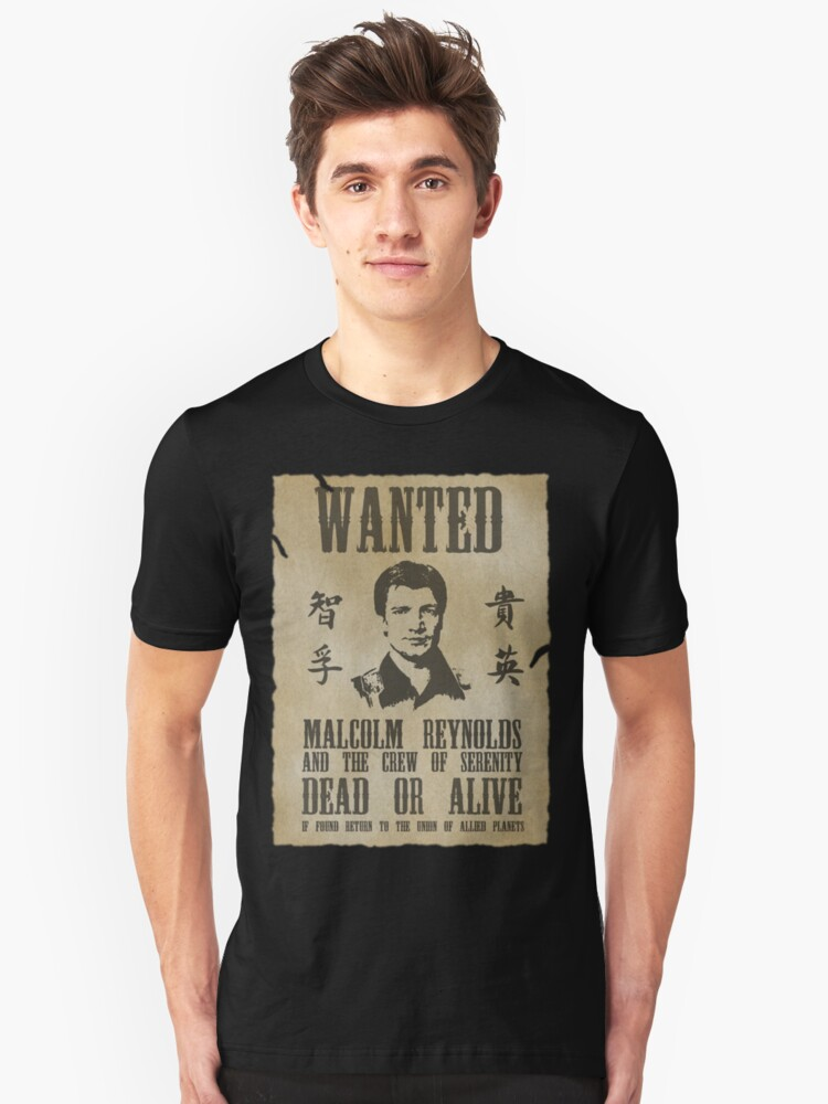 Wanted Captain  Unisex T-Shirt Front