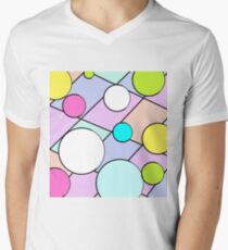 Geometric shapes,graphic design  Men's V-Neck T-Shirt