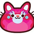 Rainbow CatBlobs: Pink by Leonie Yue