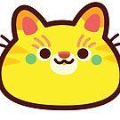 Rainbow CatBlobs: Yellow by Leonie Yue