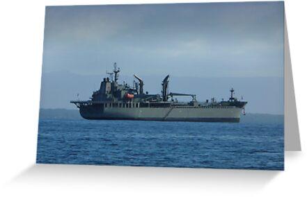 HMAS Sirius (0 266) by Les Boucher