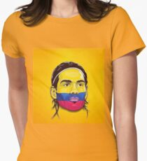 Falcao Colombia Womens Fitted T-Shirt
