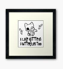 Kittens & Butterflies Framed Print