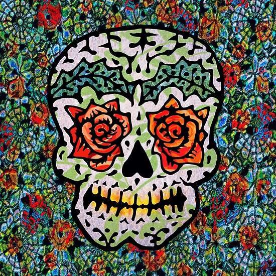 'Sweet Sugar Skull #1 by ellejayerose