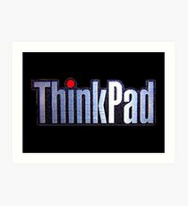 Thinkpad Logo Realistic Art Print