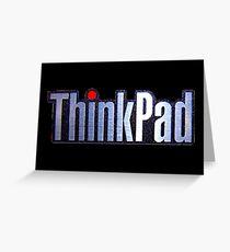 Thinkpad Logo Realistic Greeting Card