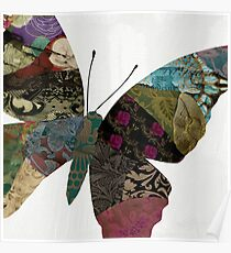 Butterfly Brocade VI Poster