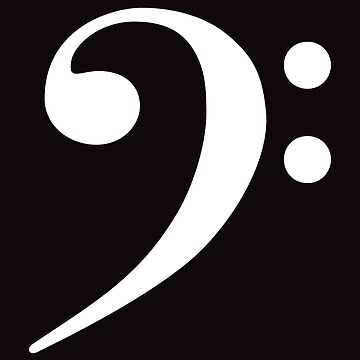 Bass Clef - Black by CoyGraphics