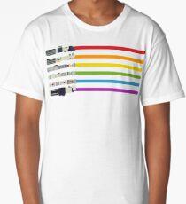 Lightsaber Rainbow Long T-Shirt