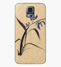 'Morning Orchids'  Sumi-e ink wash painting Case/Skin for Samsung Galaxy
