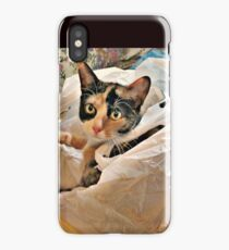 This Bag is the Purrfect Size for me! iPhone Case