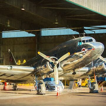 Douglas DC3 in the Hangar by StuartRow