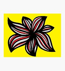 Seley Abstract Expression Yellow Red Black Photographic Print