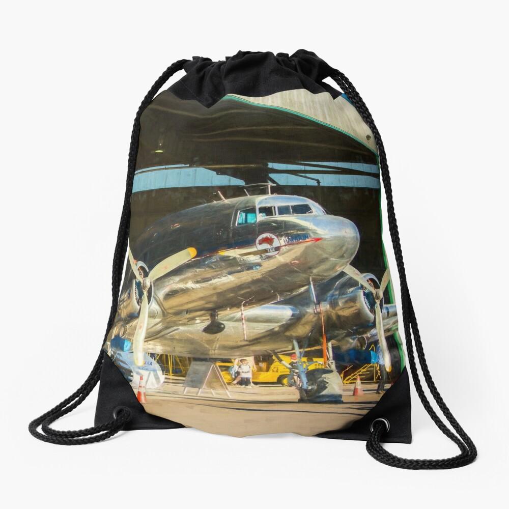 Douglas DC3 in the Hangar Drawstring Bag