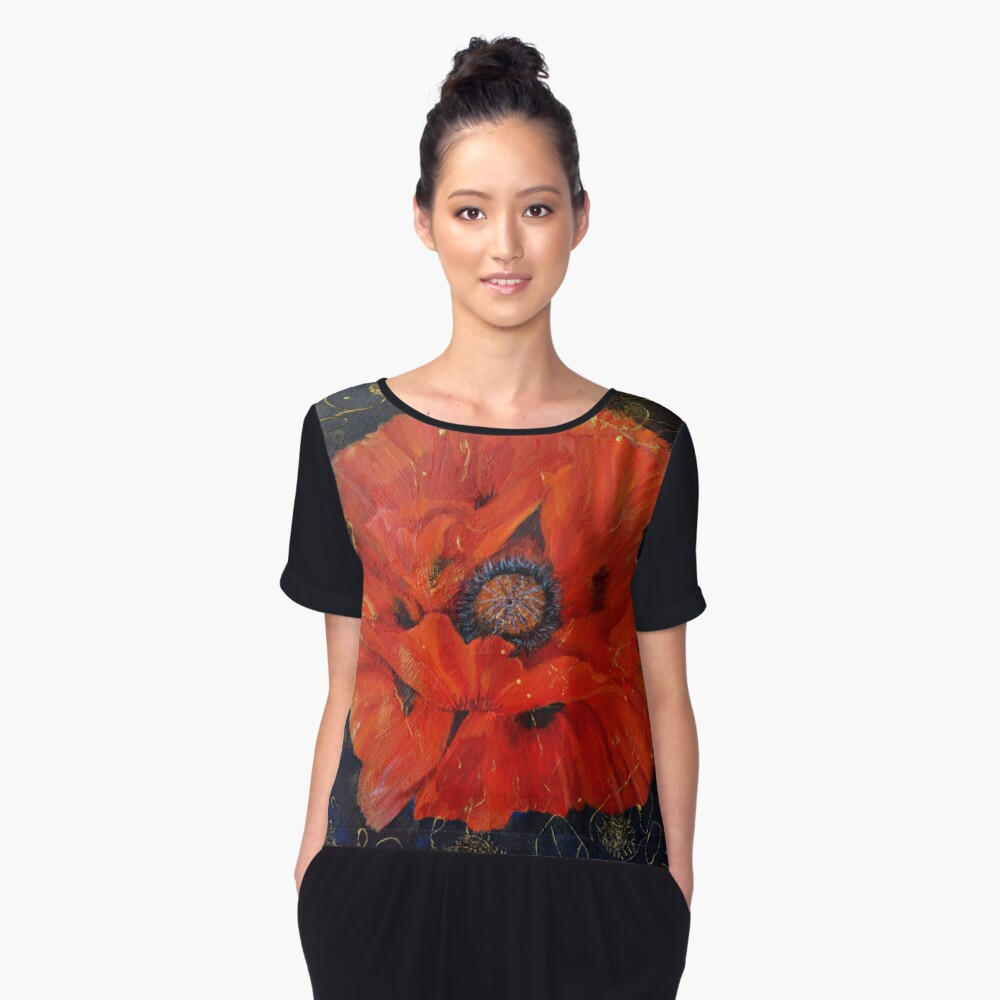 Psychedelic  Women's Chiffon Top Front