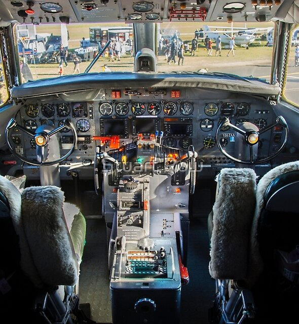 Convair 440 Cockpit by Stuart Row