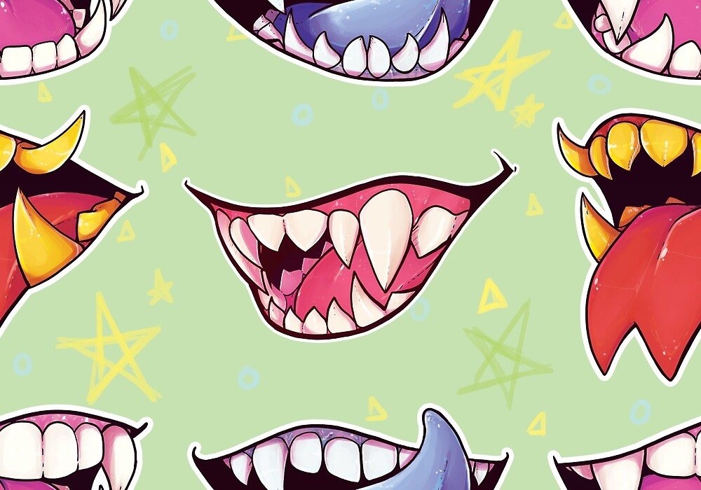 """""""Monster Mouths"""" by Pompadorkery 
