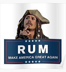 Rum Make America Great Again Poster