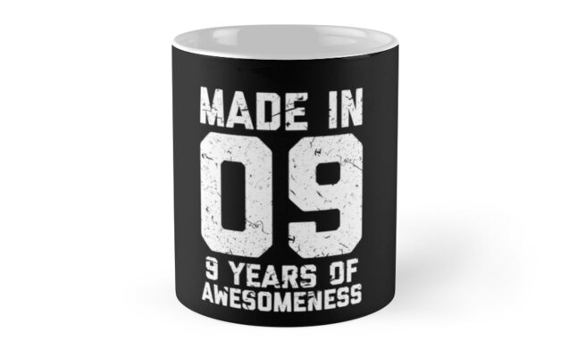 9th Birthday Gift Kids Age 9 Year Old Boy Girl Mugs By Matt L