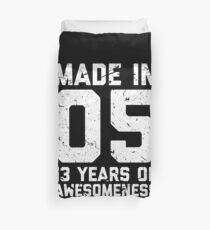 13th Birthday Gift Teens Age 13 Year Old Boy Girl Duvet Cover