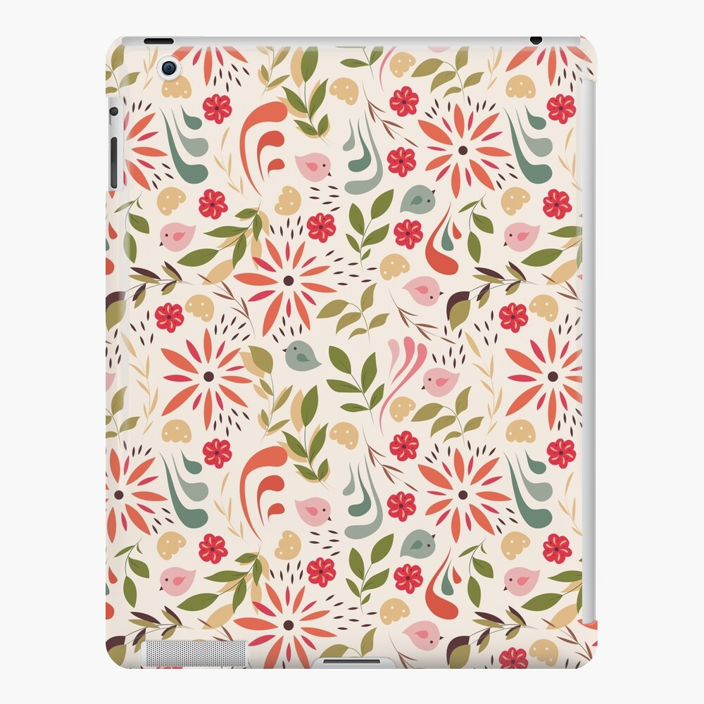 Delikate Floral Pattern On Creamy Ivory Background Pink Pastel