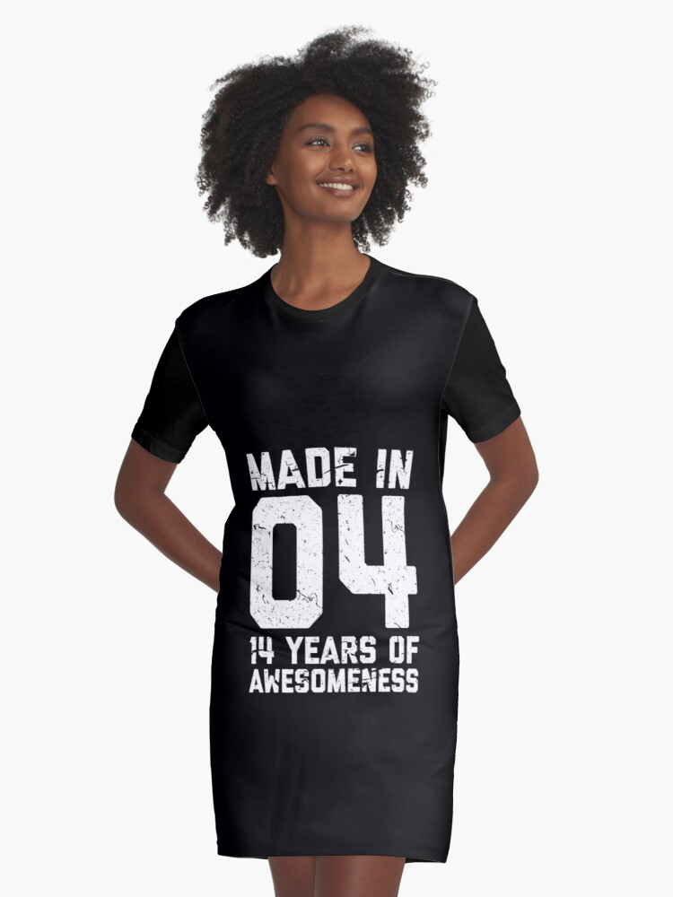 14th Birthday Gift Teens Age 14 Year Old Boy Girl Graphic T Shirt Dress By Matt L