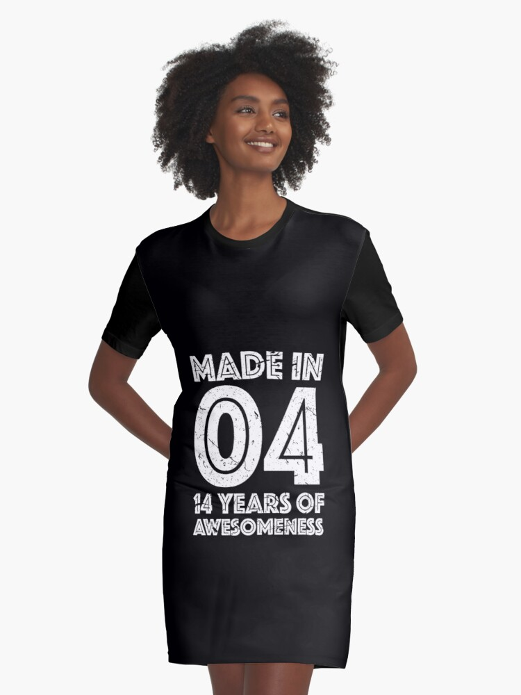 14th Birthday Gift Teens Age 14 Year Old Boy Girl Graphic T Shirt Dress By Mattlok