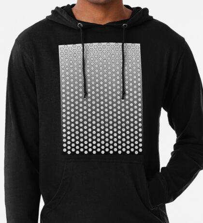 Hexagonal Turtle Pattern Black & White 002 Lightweight Hoodie