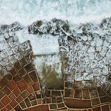 A drone shot of the Salt Pans and waves in Malta by The-Drone-Man