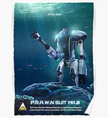 Subnautica - PRAWN Anzug (Meer) Poster