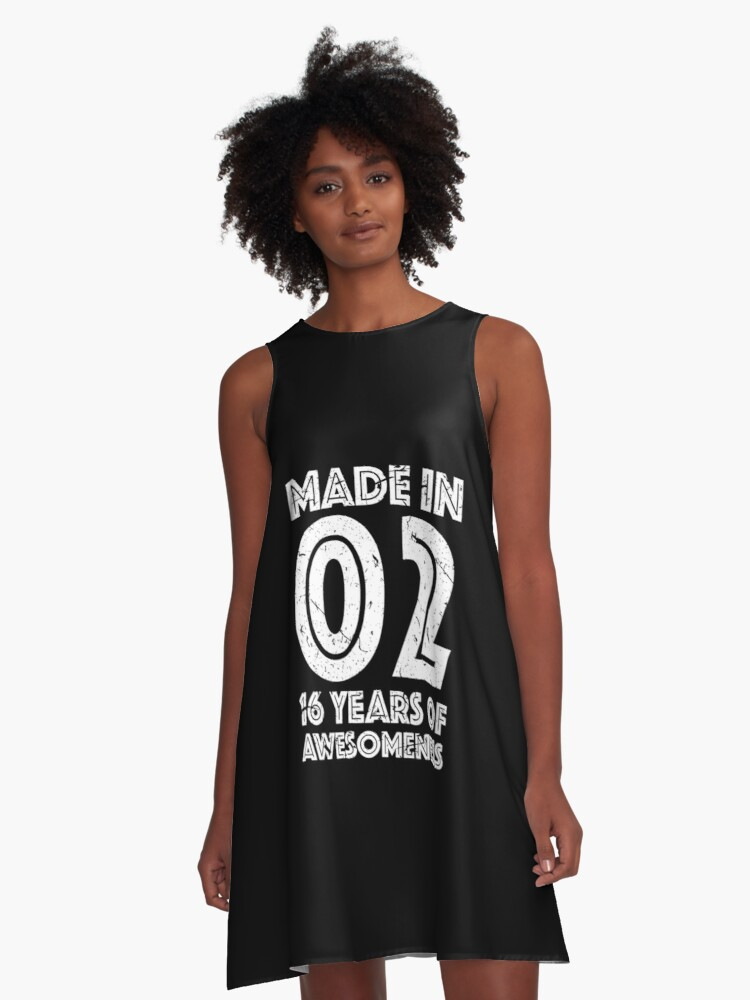 16th Birthday Gift Teens Age 16 Year Old Boy Girl A Line Dress Front