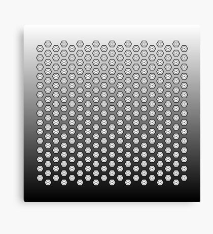 Hexagonal Turtle Pattern Black & White 002 Canvas Print