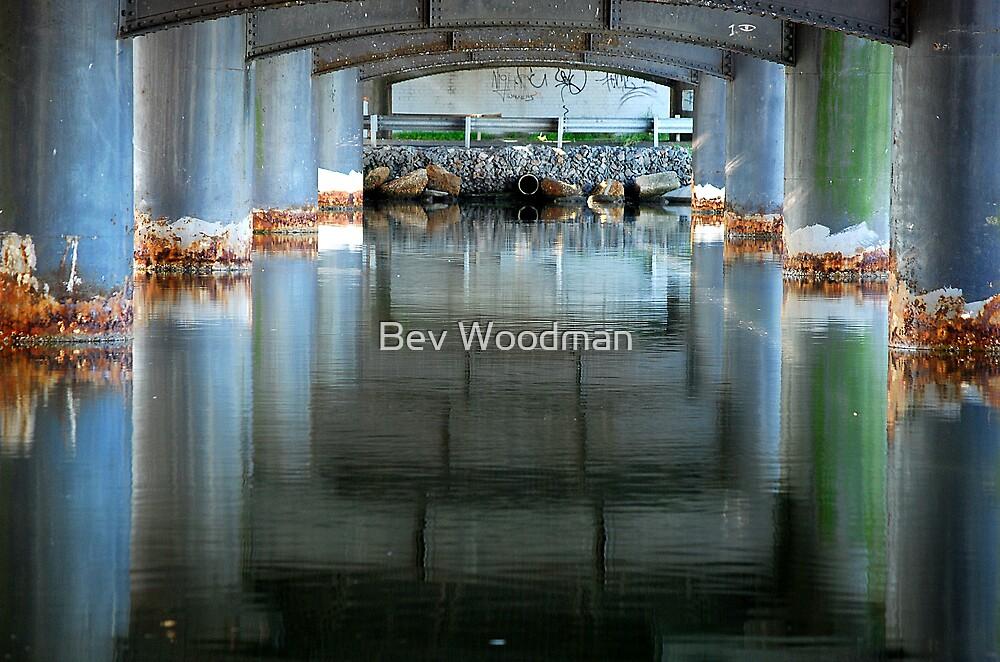 Ray of Light Reflection - Dora Creek Bridge NSW by Bev Woodman