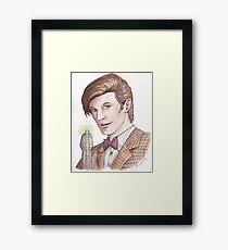 "Eleventh Doctor say ""Geronimo!"" Framed Print"
