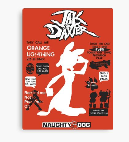 Daxter Quotes Canvas Print
