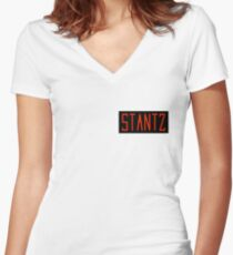 Ray Stantz Name Tag Women's Fitted V-Neck T-Shirt
