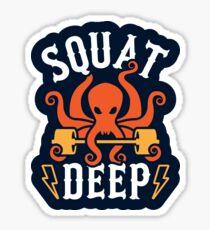Squat Deep Kraken Sticker