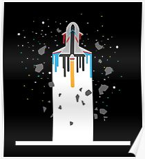Spaceship Timeline - Galaxy Space Space Poster